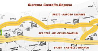 Mapa das vias